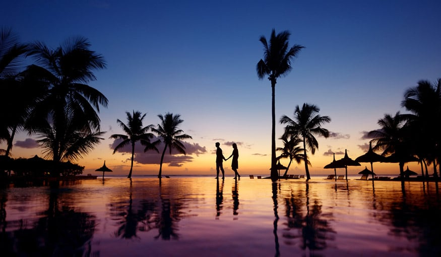 honeymoon resort sunset