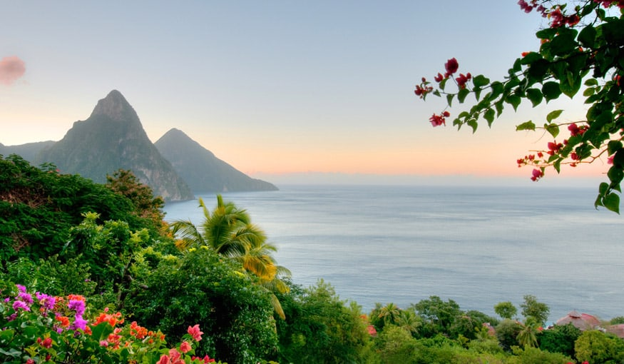 saint lucia beautiful sunset